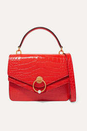 Mulberry Harlow croc-effect leather tote