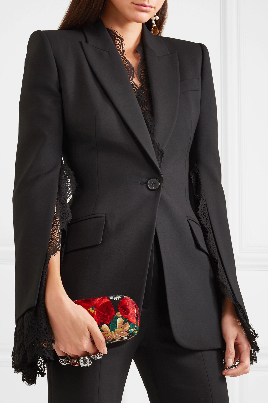 Alexander McQueen Pochette en toile à ornements Knuckle