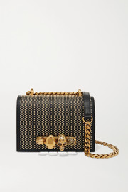 Alexander McQueen Jewelled Satchel embellished leather shoulder bag