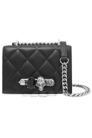 Alexander McQueen Jewelled Satchel small embellished quilted leather shoulder bag