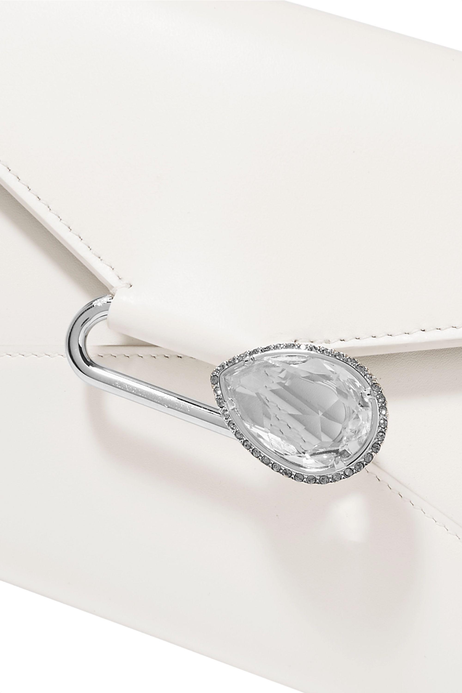 Alexander McQueen Pin crystal-embellished leather shoulder bag