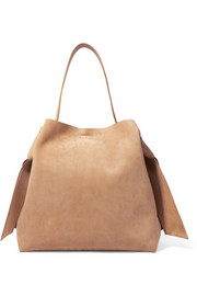 Musubi Maxi knotted suede shoulder bag