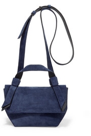 Acne Studios Musubi Milli small knotted suede shoulder bag