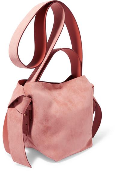 Acne Studios Shoulder Musubi Mini knotted suede shoulder bag