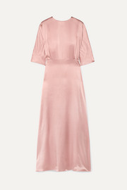 Mansur Gavriel Silk-satin maxi dress