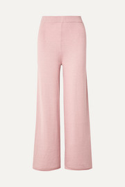 Mansur Gavriel Alpaca and silk-blend wide-leg pants