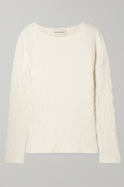 Mansur Gavriel Crinkled cotton-jersey top