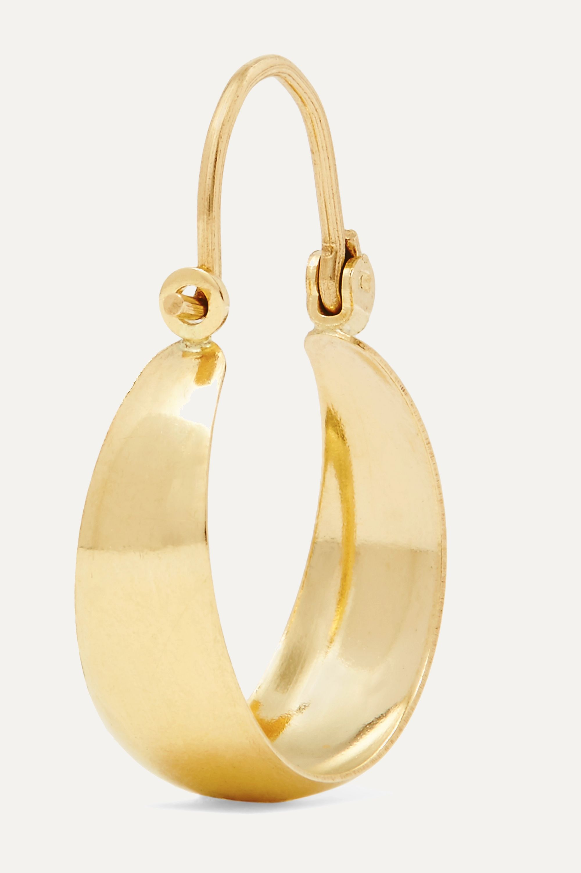Loren Stewart Mini Hammock 14-karat gold earrings
