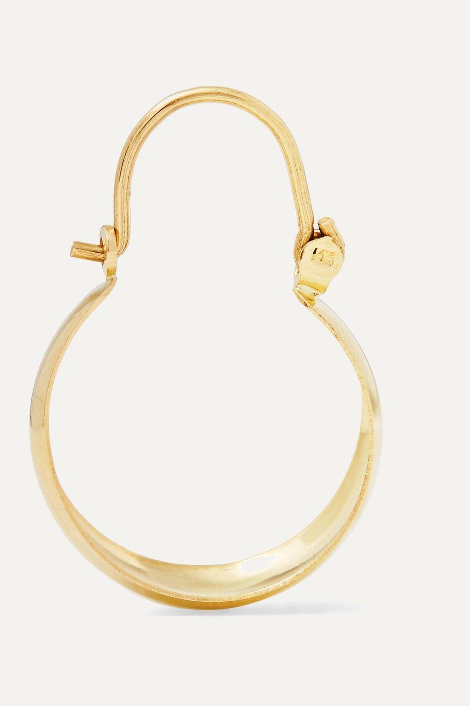 Loren Stewart Mini Hammock 14-karat gold earrings