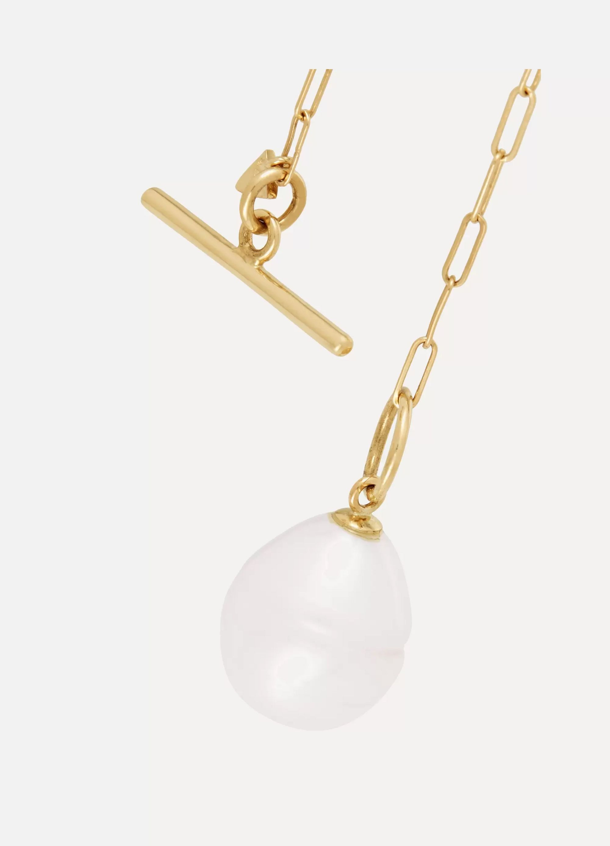 Loren Stewart 14K 黄金淡水珍珠项链