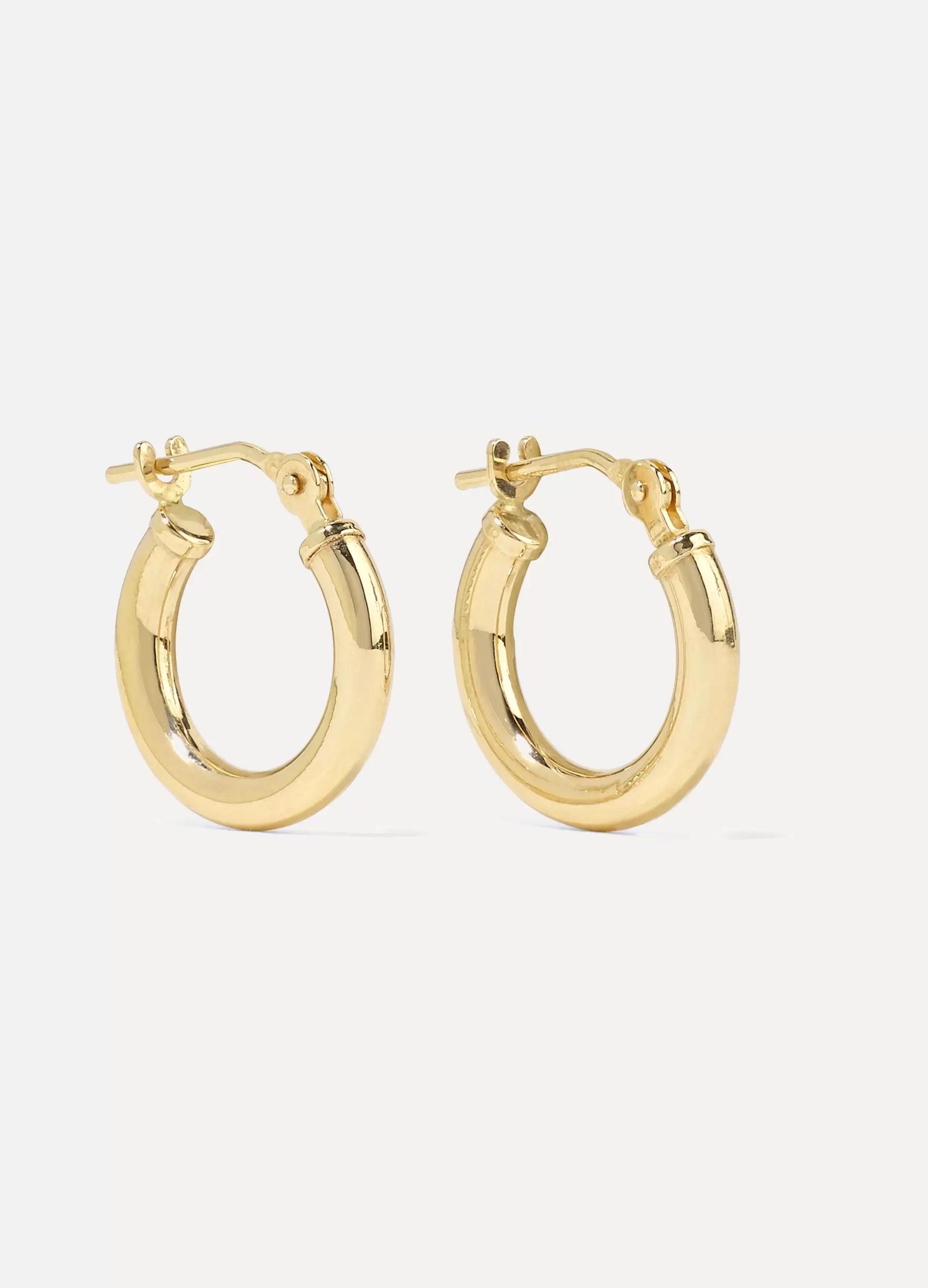 Loren Stewart Baby Chubbie Huggies gold hoop earrings