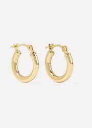 Baby Chubbie Huggies gold hoop earrings