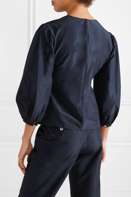 Mansur Gavriel Cotton and silk-blend taffeta top