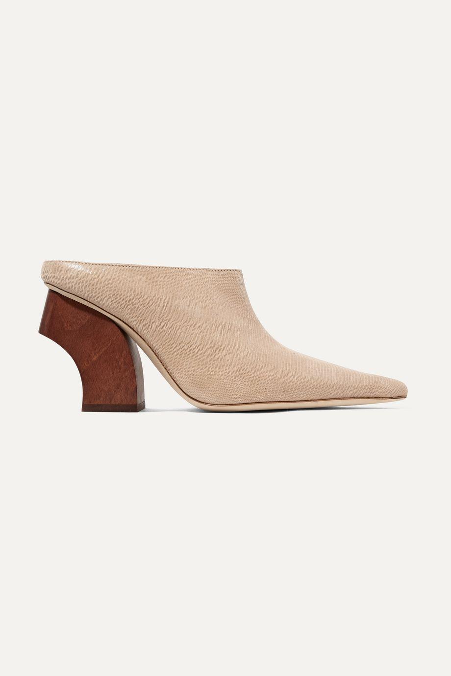 REJINA PYO Yasmin lizard-effect leather mules