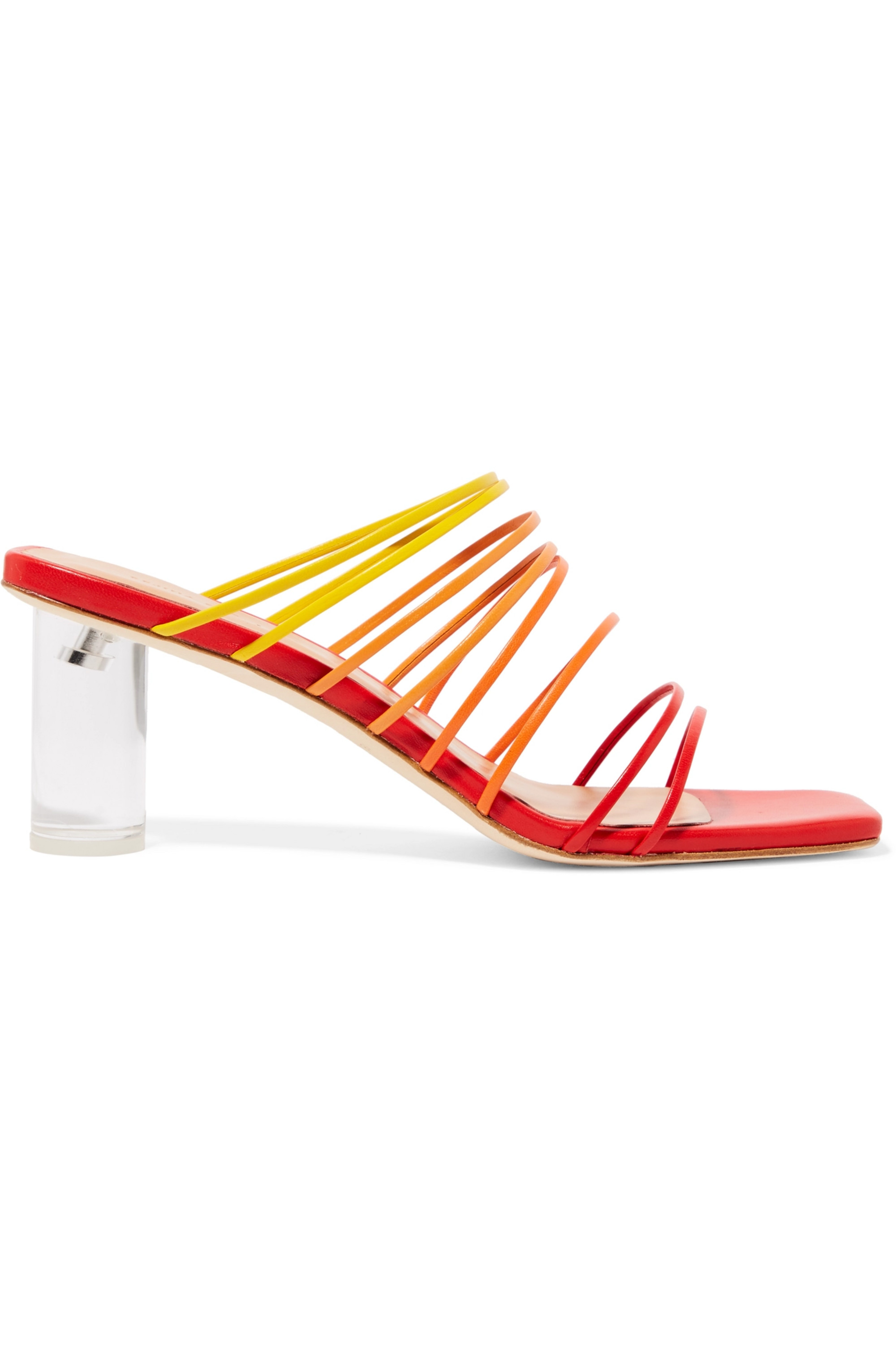 REJINA PYO Zoe leather and Perspex mules
