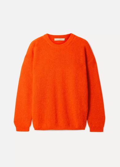 Ludivine Knitted Sweater in Bright Orange