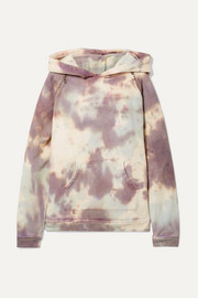 The Brigitte embellished tie-dyed cotton-terry hoodie
