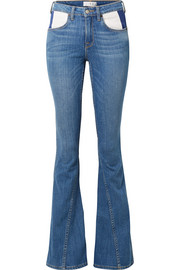 TRE by Natalie Ratabesi The Fiona paneled mid-rise flared jeans
