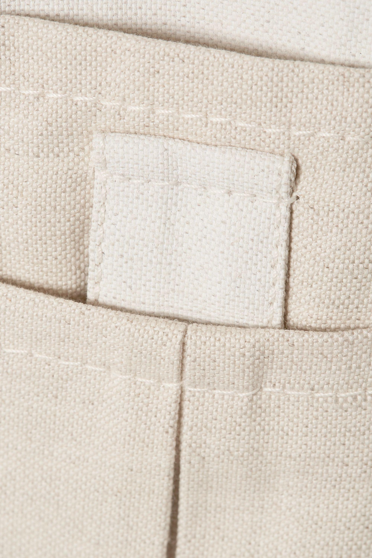TRE by Natalie Ratabesi Pantalon large en lin et coton mélangés bicolores The Missy
