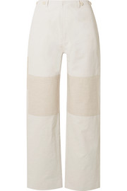 TRE by Natalie Ratabesi The Missy two-tone linen and cotton-blend wide-leg pants