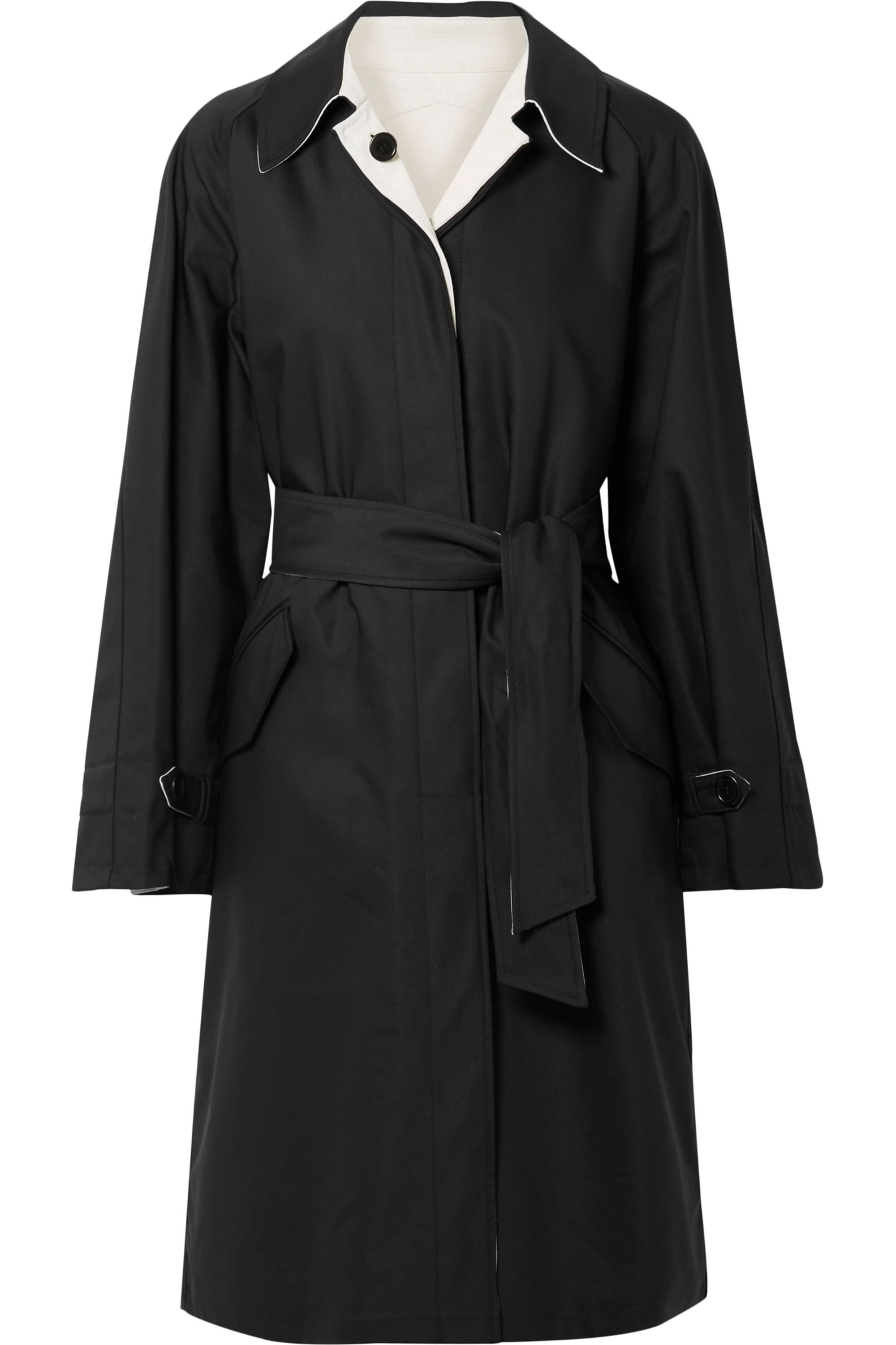 TRE by Natalie Ratabesi The Barbara reversible cotton-blend canvas and silk-crepe trench coat