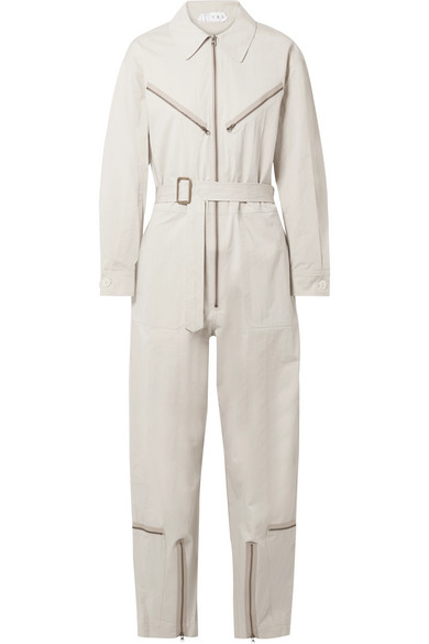 Pigalle Cotton-Blend Twill Jumpsuit in Beige