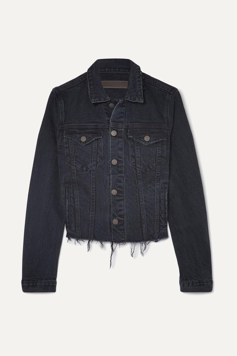 GRLFRND Cara distressed denim jacket