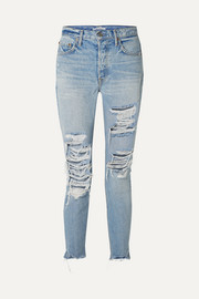 GRLFRND Karolina hoch sitzende Skinny Jeans in Distressed-Optik