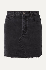 Blaire frayed denim mini skirt