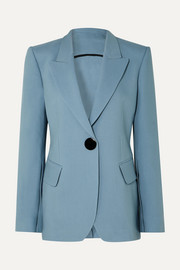 Jovan wool and silk-blend twill blazer