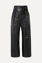 Haena leather wide-leg pants