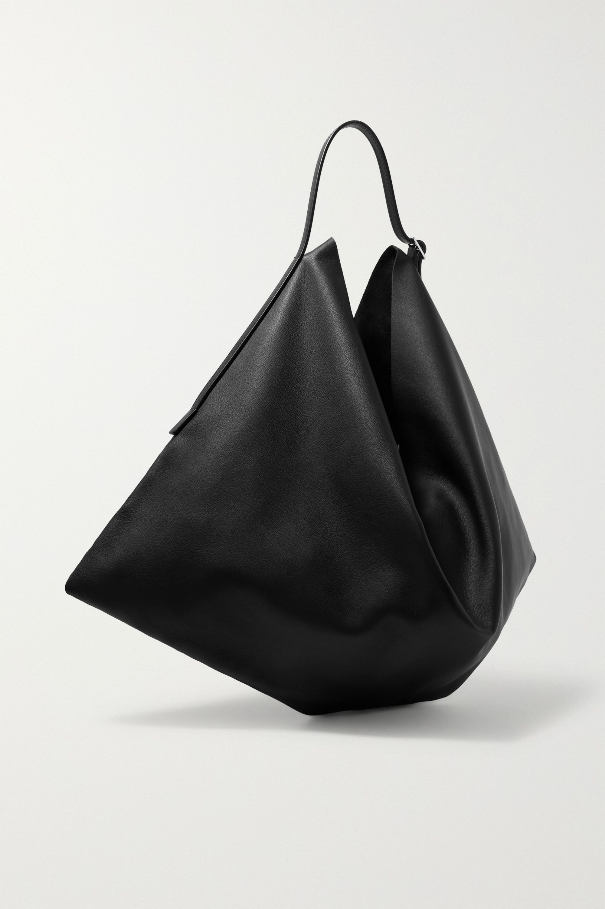 The Row Flat Hobo small leather shoulder bag