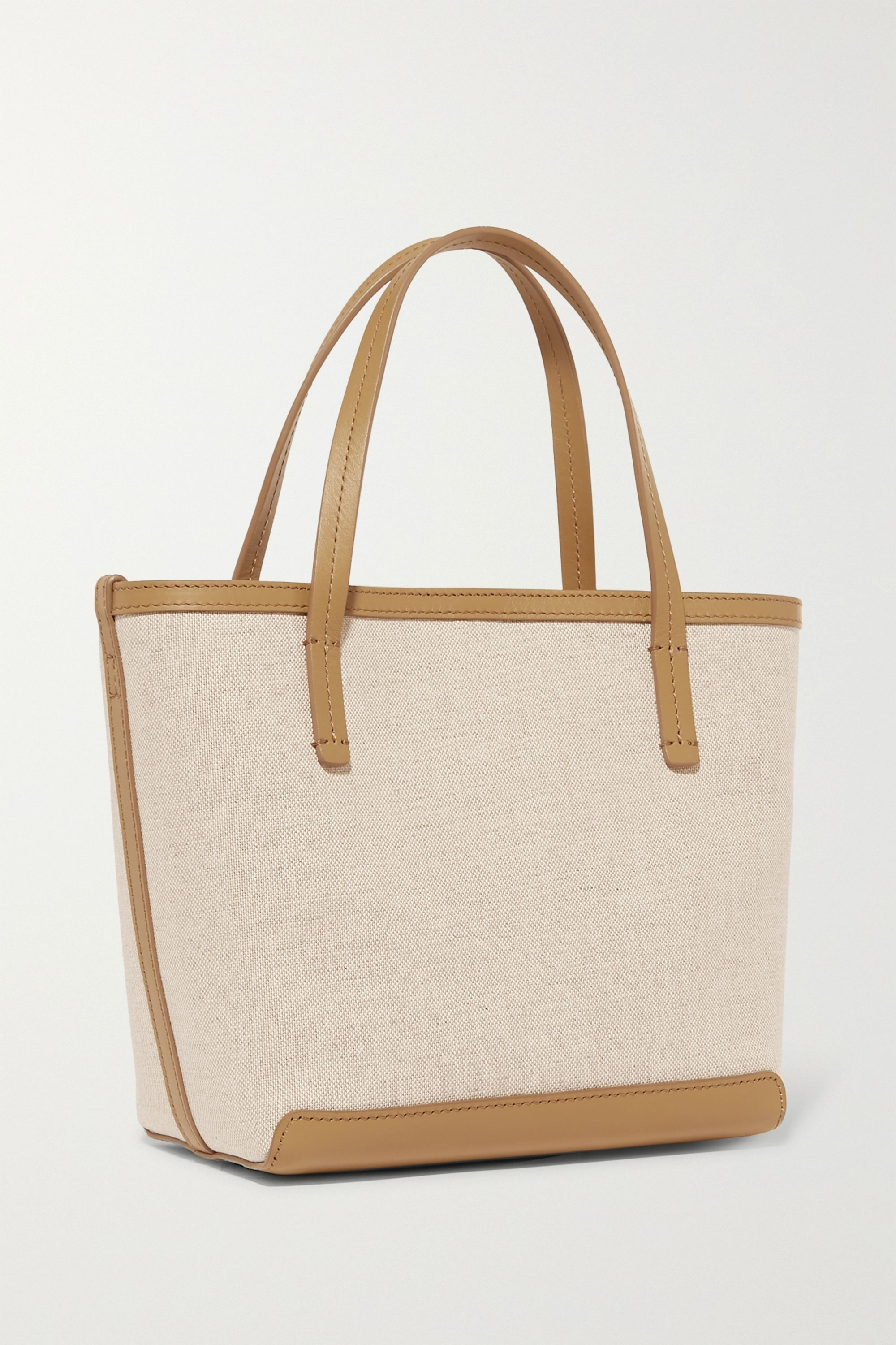 The Row Park small leather-trimmed canvas tote
