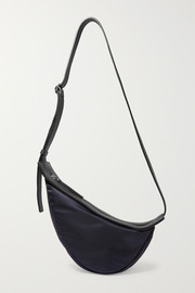 Slouchy Banana small leather-trimmed shell shoulder bag
