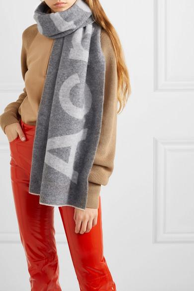 Acne Studios Accessories Toronty intarsia wool-blend scarf