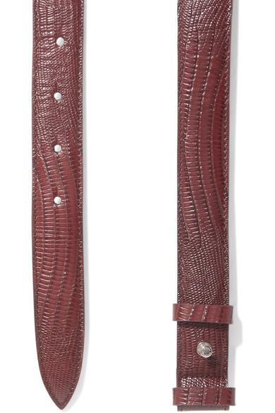 Acne Studios Belts Anemone lizard-effect leather belt