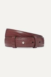 아크네 스튜디오 아네모네 리자드 무늬 가죽 벨트 버건디 Acne Studios Anemone lizard-effect leather belt