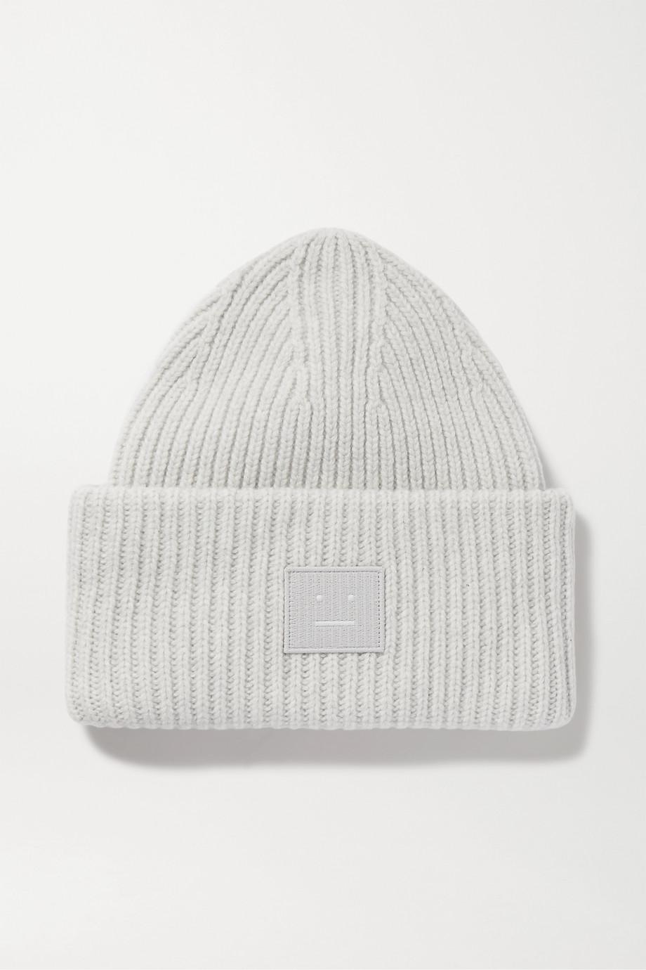 Acne Studios 贴花罗纹羊毛毛线帽