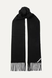 아크네 스튜디오 캐나다 프린지 울 스카프 블랙 Acne Studios Canada fringed wool scarf