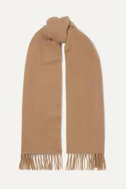 아크네 스튜디오 캐나다 내로우 프린지 울 스카프 카멜 Acne Studios Canada Narrow fringed wool scarf