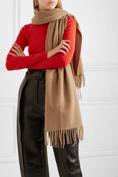 Acne Studios Accessories Canada Narrow fringed wool scarf