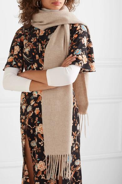 Acne Studios Accessories Canada Skinny fringed wool scarf