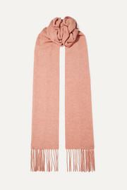 아크네 스튜디오 캐나다 스키니 프린지 멜란지 울 스카프 앤틱로즈 Acne Studios Canada Skinny fringed melange wool scarf