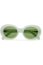 Mustang round-frame acetate sunglasses