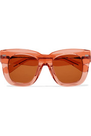 Library square-frame acetate sunglasses