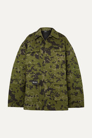 we11done Camouflage-print cotton jacket