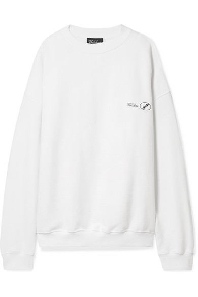 WE11DONE | We11done - Oversized Printed Cotton-jersey Sweatshirt - White | Goxip