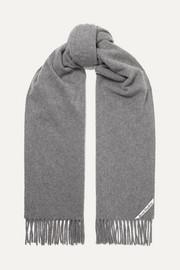 아크네 스튜디오 캐나다 프린지 울 스카프 그레이 Acne Studios Canada fringed wool scarf