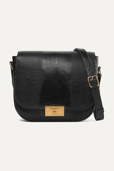 SAINT LAURENT | Betty lizard-effect leather shoulder bag | Goxip