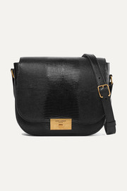 Betty lizard-effect leather shoulder bag